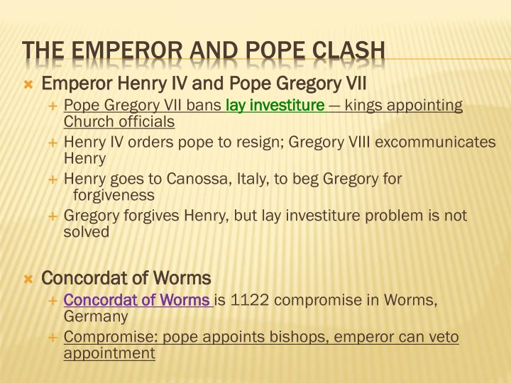 Emperor Henry IV and Pope Gregory VII