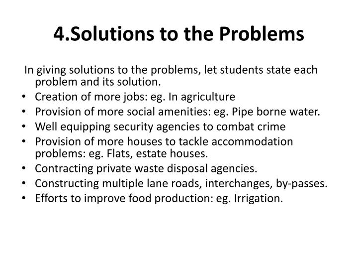 4.Solutions to the Problems