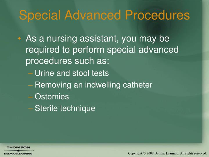 Special Advanced Procedures