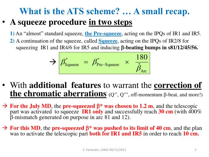 What is the ATS scheme? … A small recap.