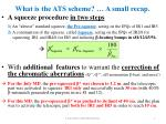 what is the ats scheme a small recap