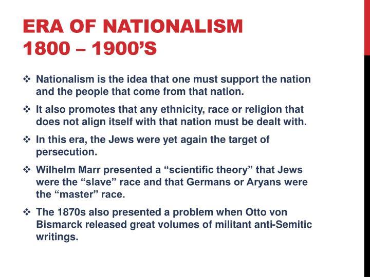 Era of Nationalism
