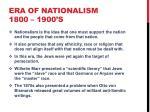 era of nationalism 1800 1900 s