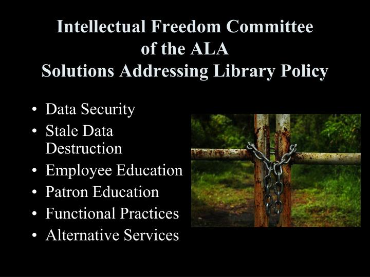 Intellectual Freedom Committee