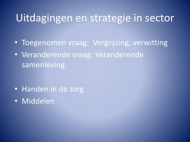 Uitdagingen en strategie in sector
