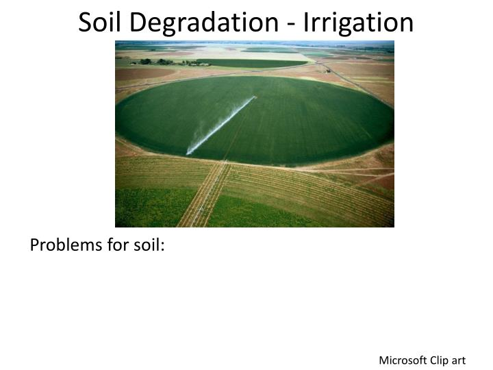 Soil Degradation - Irrigation