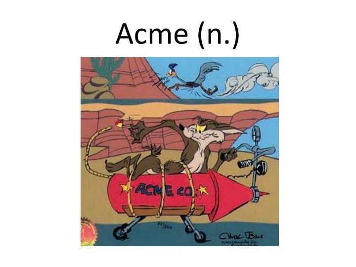 Acme (n.)