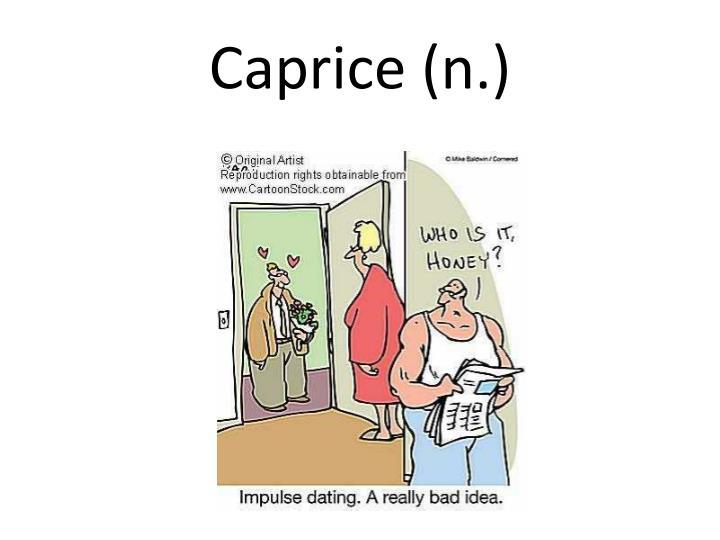 Caprice (n.)