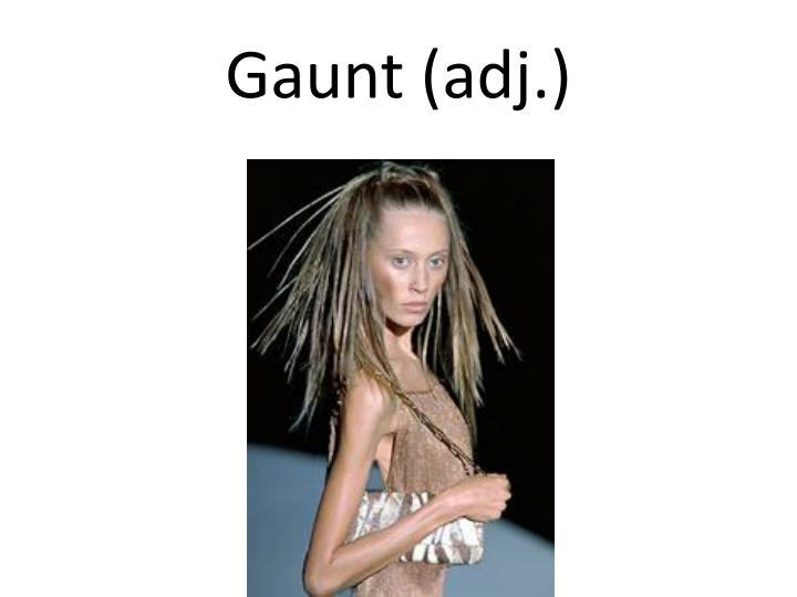 Gaunt (adj.)