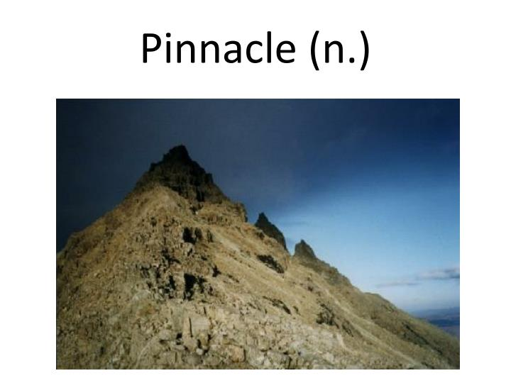 Pinnacle (n.)