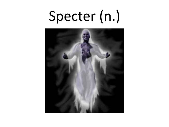 Specter (n.)
