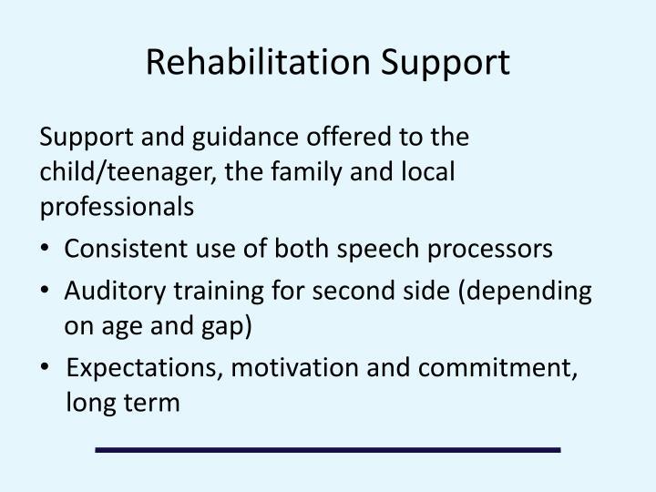 Rehabilitation Support