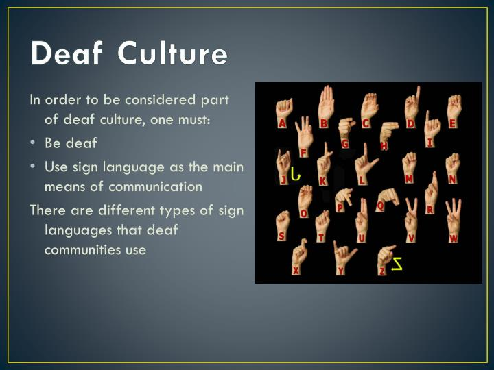 Deaf Culture