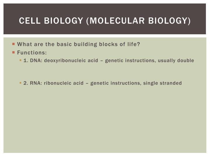 Cell Biology (molecular biology)
