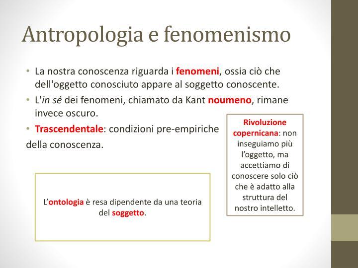 Antropologia e fenomenismo