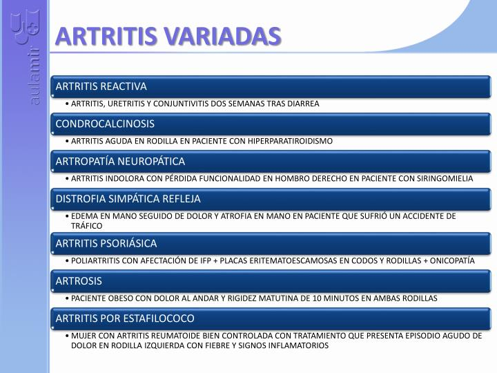 ARTRITIS VARIADAS