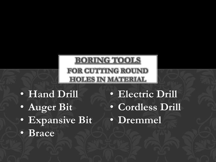 Boring tools
