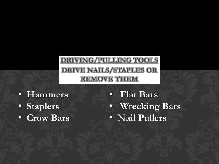 Driving/pulling tools
