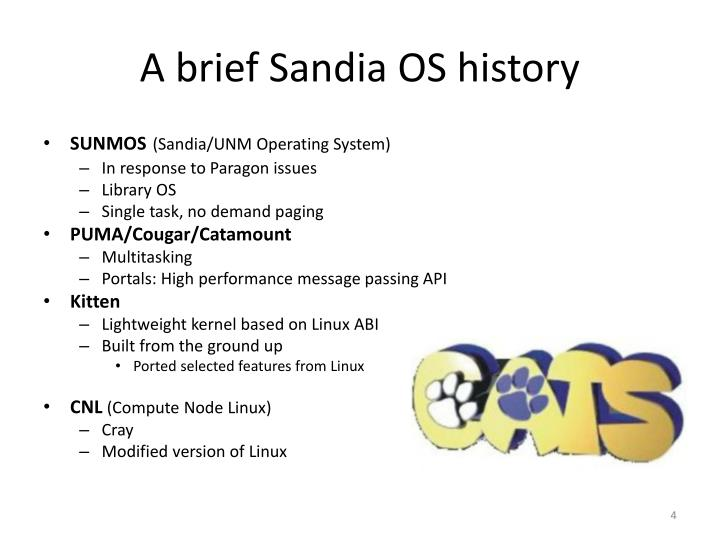 A brief Sandia OS history