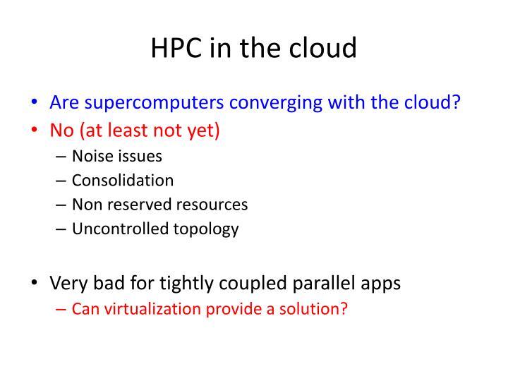 HPC in the cloud
