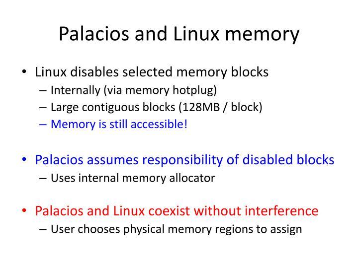 Palacios and Linux memory