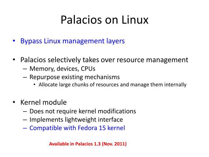 Palacios on Linux