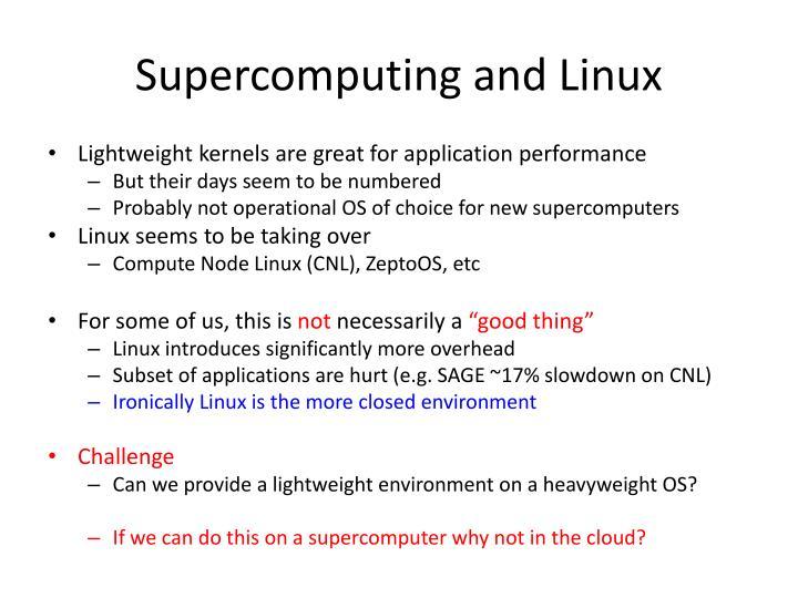 Supercomputing and Linux