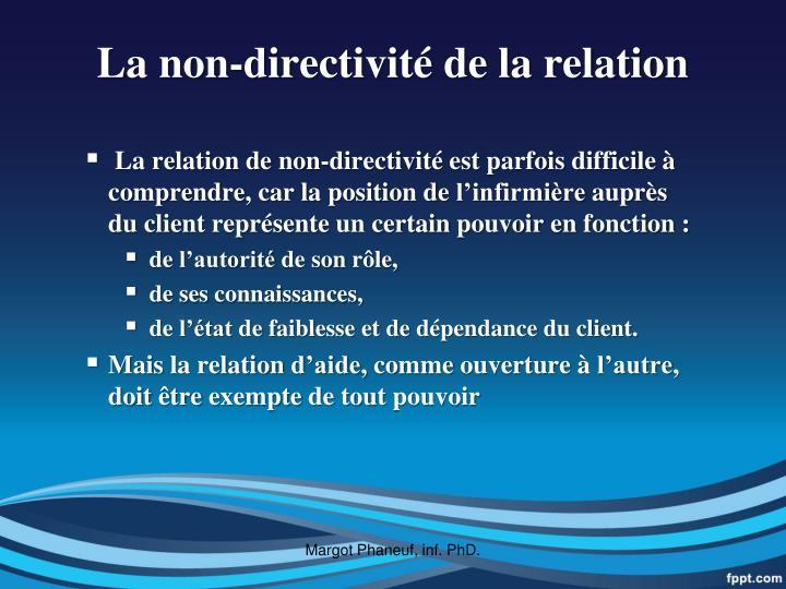 La non-directivité de la relation