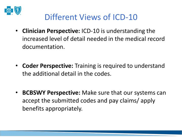 Different Views of ICD-10