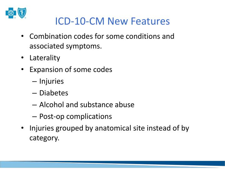 ICD-10-CM New Features