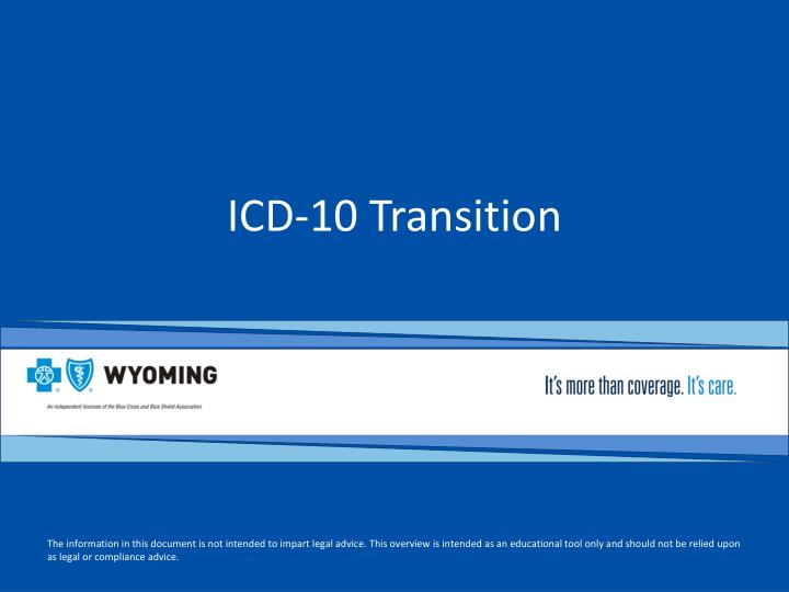 Icd 10 transition