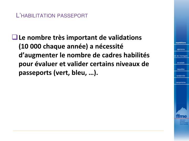 L'habilitation passeport