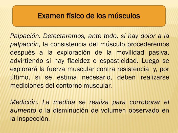 Examen físico de los músculos