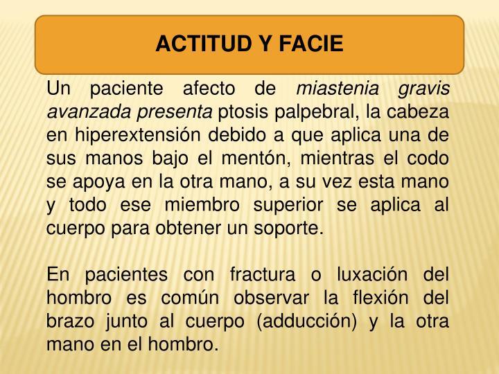 ACTITUD Y FACIE
