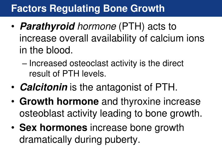 Factors Regulating Bone Growth