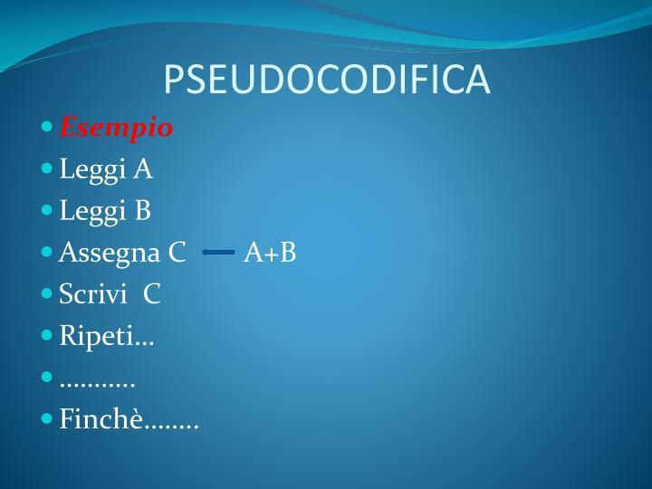 PSEUDOCODIFICA