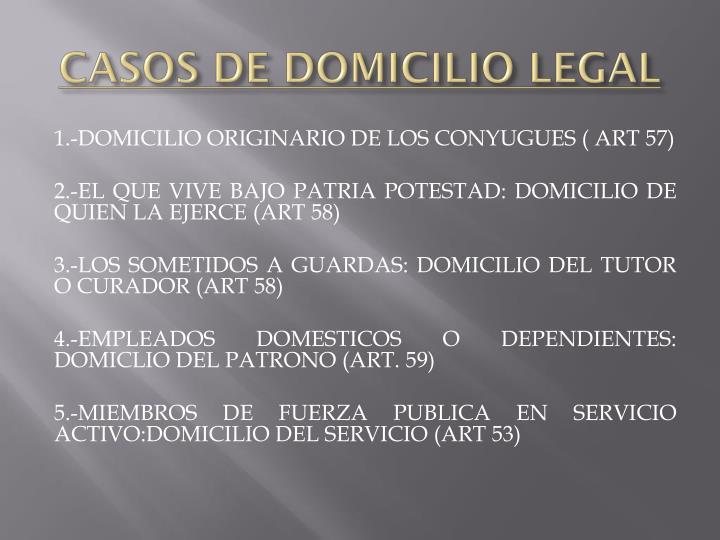 CASOS DE DOMICILIO