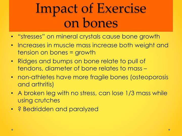 Impact of Exercise