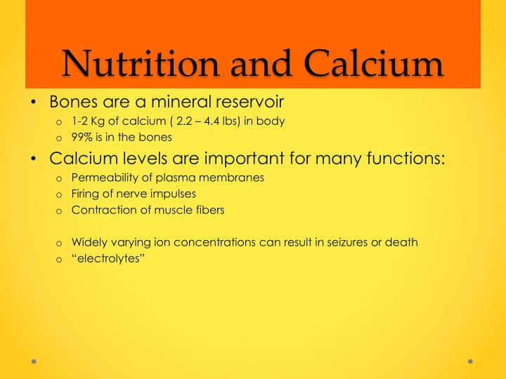 Nutrition and Calcium
