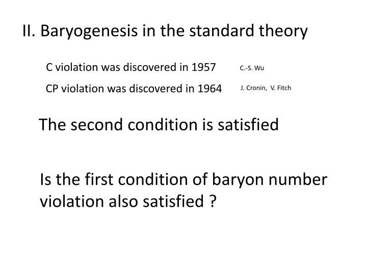 II. Baryogenesis in the standard theory