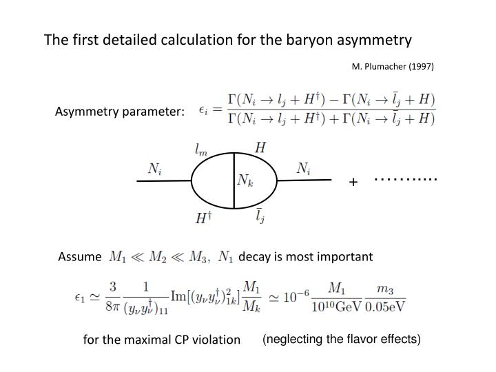The first detailed calculation for the baryon asymmetry