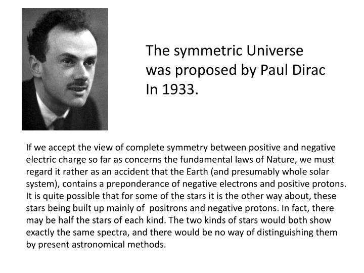 The symmetric Universe