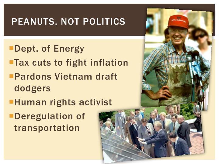 Peanuts, Not Politics