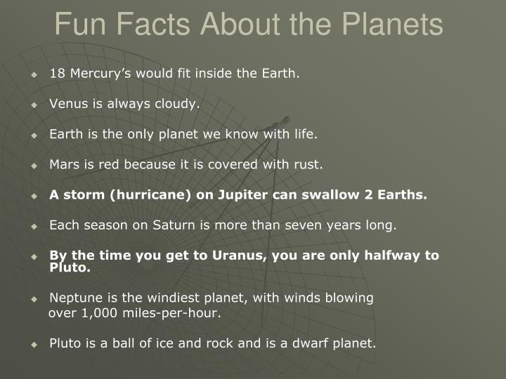 Fun Facts About the Planets