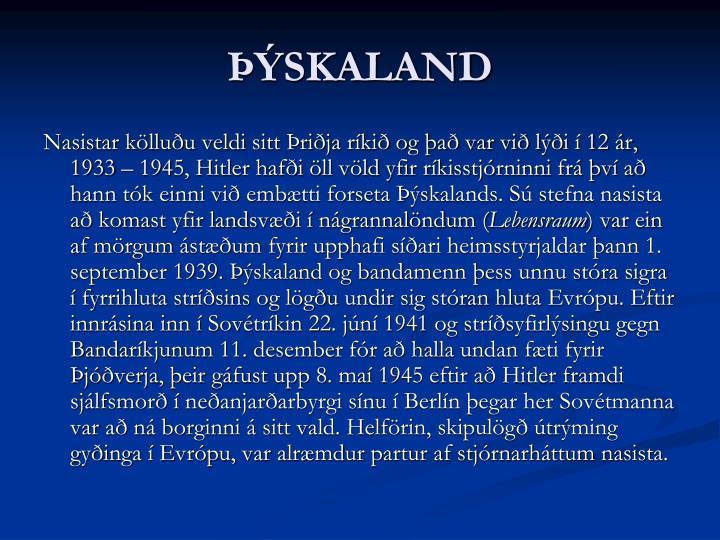 ÞÝSKALAND