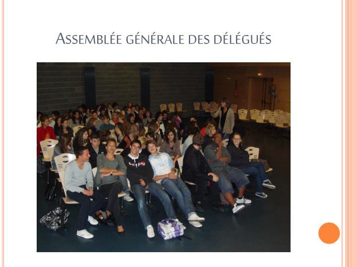 Assemblée générale des délégués