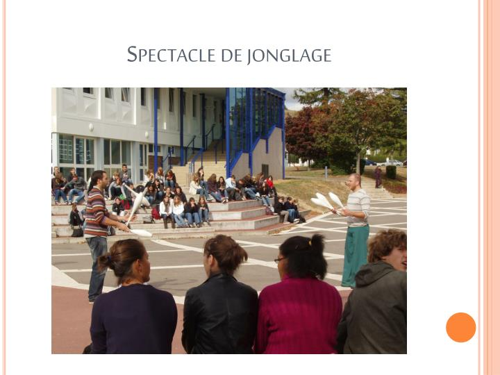 Spectacle de jonglage