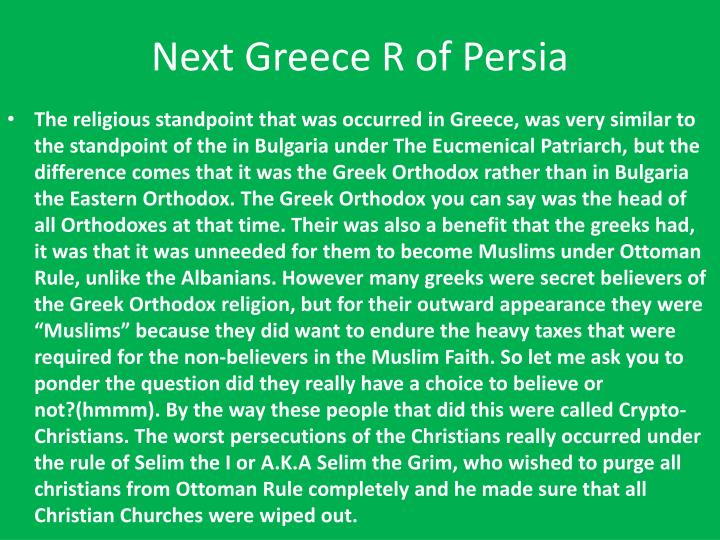 Next Greece R of Persia