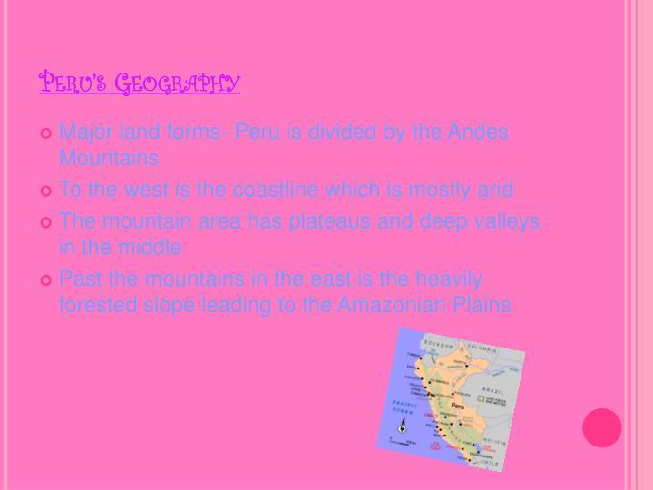 Peru's Geography