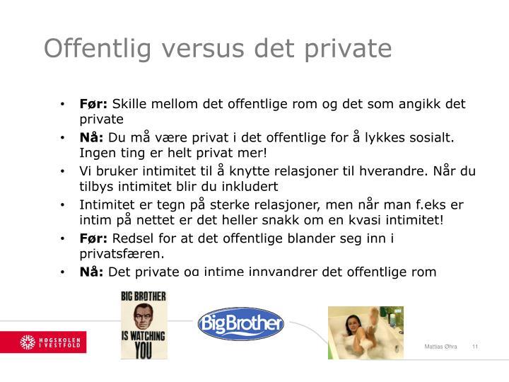 Offentlig versus det private